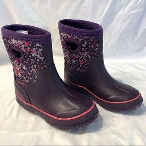 Cat & Jack purple children's waterproof boots